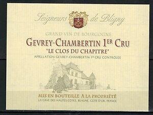 Etiketten Etiquette Vin de Bourgogne-Gevrey ChambertinLe Clos Du Chapitre-1°cru-Réf.n°195