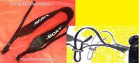 Neoprene Shoulder Strap for Sony Camera Alpha A850 Nex-6 Nex-5t Nex-3n +2 Rings