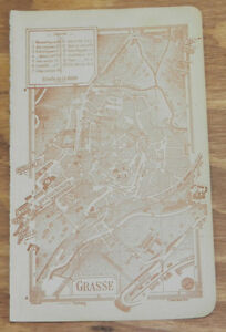 c1914 Antique COLOR Road Map of GRASSE FRENCH RIVIERA FRANCE eBay