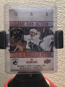 17-18-Upper-Deck-Tim-Hortons-Game-Day-Action-GDA-6-BO-HORVAT-FREE-SHIPPING