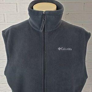 Columbia-Fleece-Vest-Mens-XL-Tall-Grey-Full-Zip-Pockets-Outerwear-Jacket-Coat