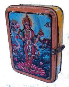 Boite-Metal-Recycle-Lakshmi-Kitsch-Bollywood-17x13x5cm-Inde-305