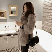 Fashion Women's Slim Faux Fur Coat Outwear Jacket Overcoat Winter Warm Parka NEW