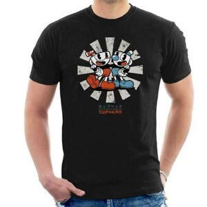 Cuphead-Retro-Japanese-Men-039-s-T-Shirt