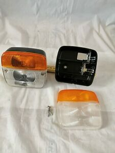 Pair Light Indicators Front Rear Car Truck Trailers Sidecar Period