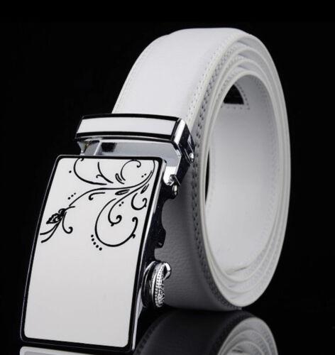 Femmes Créateur Cuir ceintures blanche Automatique Cliquet Ceinture pour femmes Auto