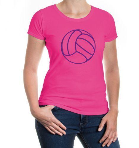Da Donna A Maniche Corte Malvagia T-shirt Pallavolo Palla Materiali Di Alta Qualità Al 100%
