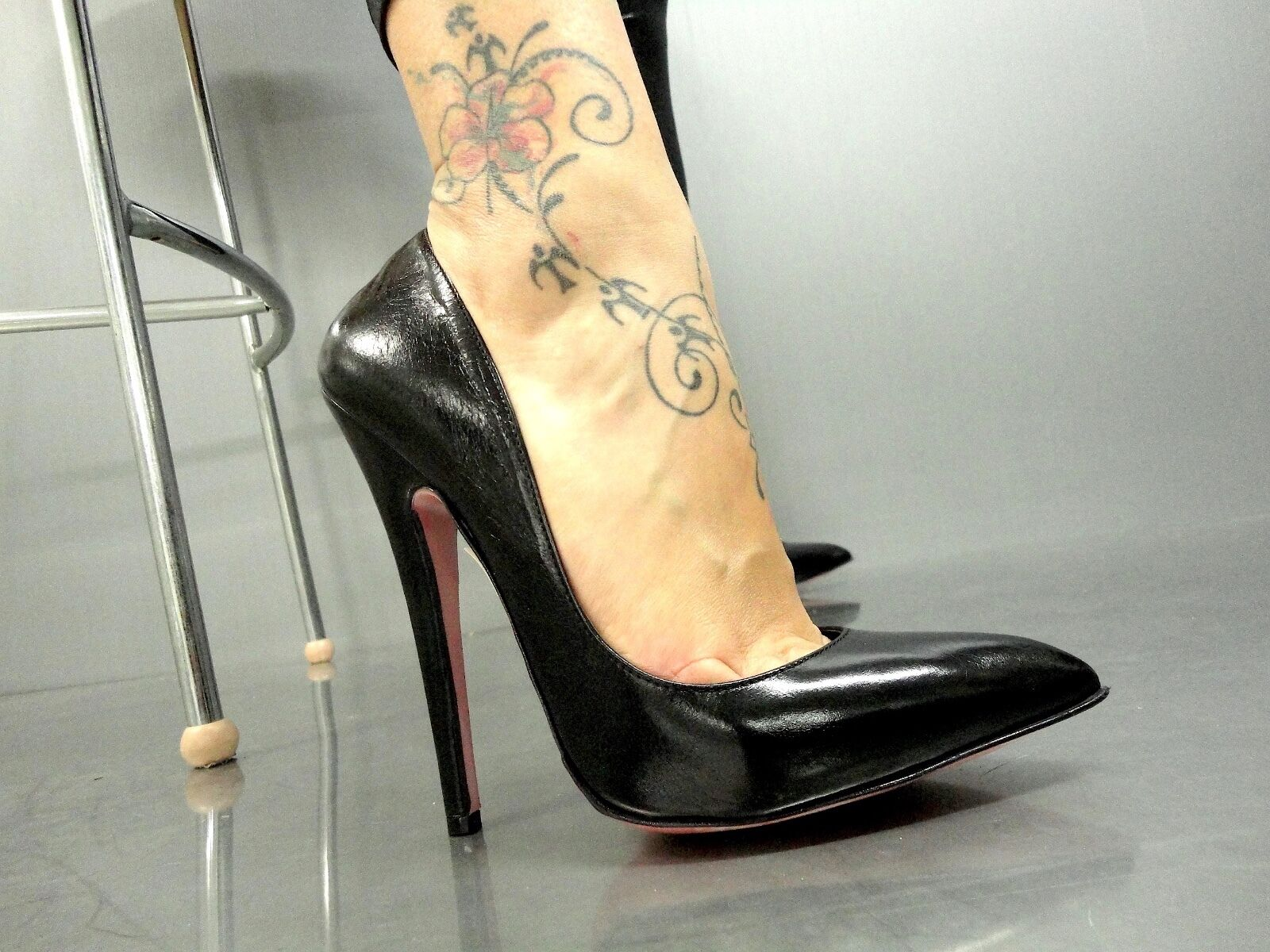 Descuento barato MORI MADE IN ITALY HIGH SKY SEXY HEELS PUMPS SCHUHE SHOES LEATHER BLACK NERO 37