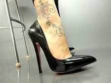 MORI MADE IN ITALY HIGH SKY SEXY HEELS PUMPS SCHUHE SHOES LEATHER BLACK NERO 44