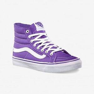320784e1f8 La imagen se está cargando Vans-zapatos-Shoes-cortos-sk8-hi-slim-Neon-