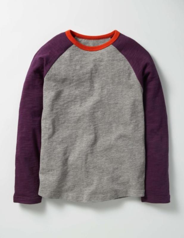 Boden Raglan T-shirt Grey Marl Size 2-3y Style #b0020 J