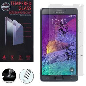 Lot-Pack-Film-Verre-Trempe-Protecteur-pour-Samsung-Galaxy-Note-4-SM-N910F
