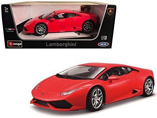 LP 11038 Bburago By Model Car Diecast Scale 18 1 Red 610-4