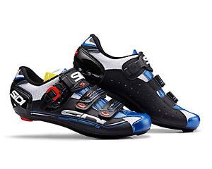 SIDI Genius 5 Fit Road Cycling Shoes Bike Shoes Steel//White//Blue Size 36-46 EUR