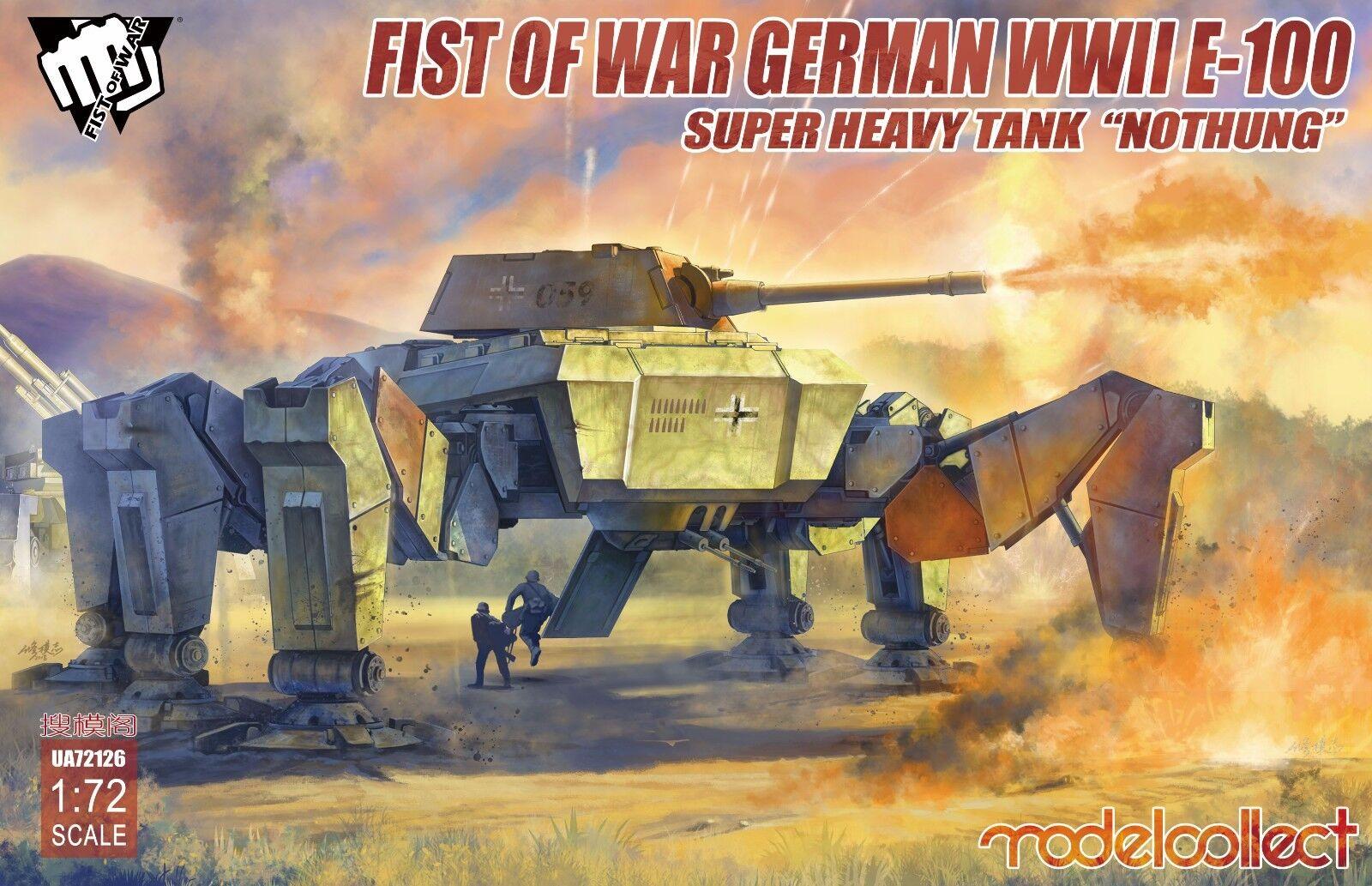 Modelcollect Fist of War German WWII E-100 Supper Heavy Model 1 72 Tank UA72126