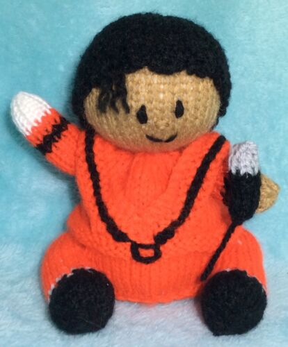 13 cms toy Michael Jackson inspired chocolate orange cover KNITTING PATTERN