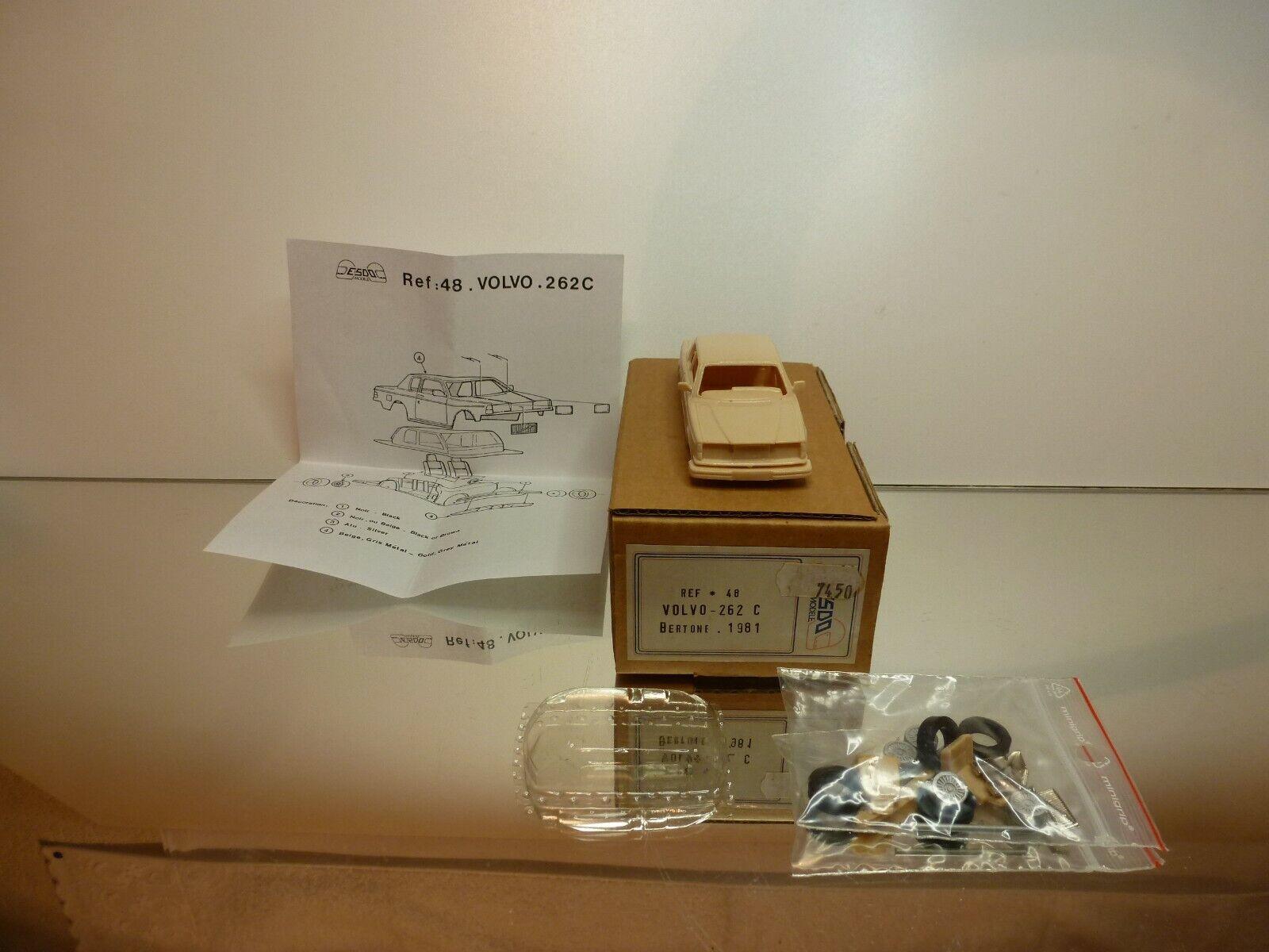 ESDO MODELE  48 VOLVO 262C BERTONE 1981 - 1 43 - UNBUILT IN BOX
