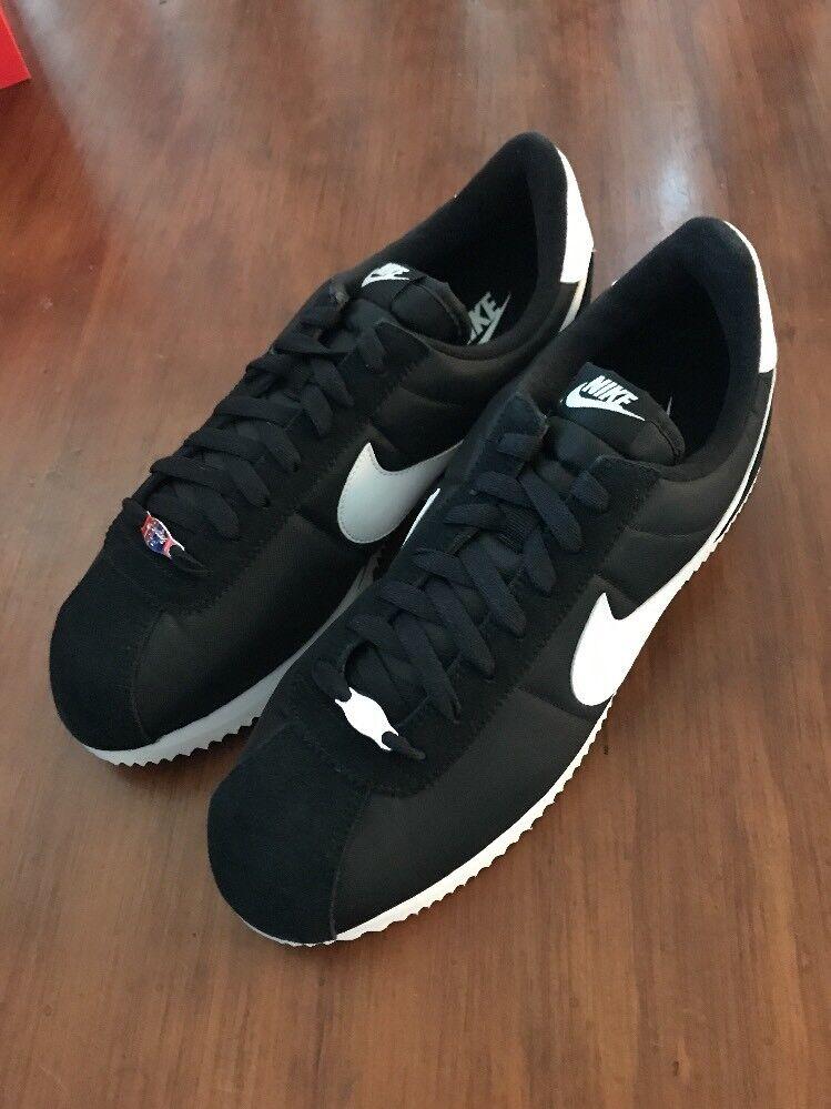 Nike Cortez Baisc Nylon shoes 819720 011 New Black Trainers Size 12