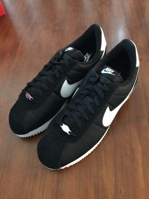 buy popular d00f2 8e266 Men Nike Cortez Basic Nylon Black White Metallic Silver 819720011 12