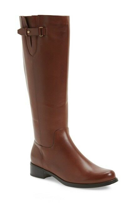 WOMENS BLONDO BOOTS Volly Waterproof Brown Leather Riding Knee High Zip Boot 7.5
