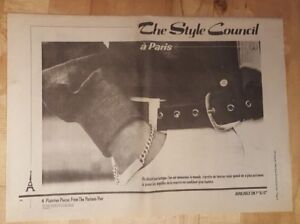 Style-Council-a-Paris-1983-press-advert-Full-page-39-x-28-cm-poster