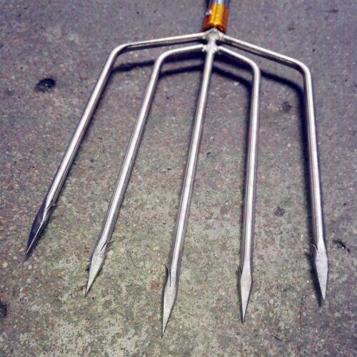 Single Prong Harpoons M8 Spear Rod Gun Gig Fish Frog Salmon Eel Barbed 5 7