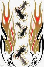 N-126 Adler Flammen Aufkleber Sticker 1 Bogen 27 x 18 cm Racing Tuning