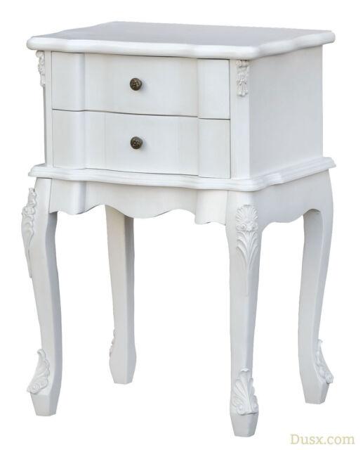 Boudoir Provence Antique White Bedside Table
