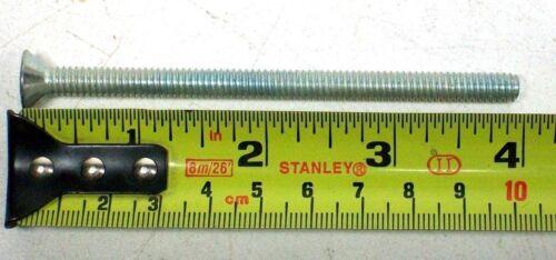 """LOT OF 25 NEW 1//4-20 X 4/"""" ZINC PLATED FLAT HEAD PHILLIPS MACHINE SCREW"""