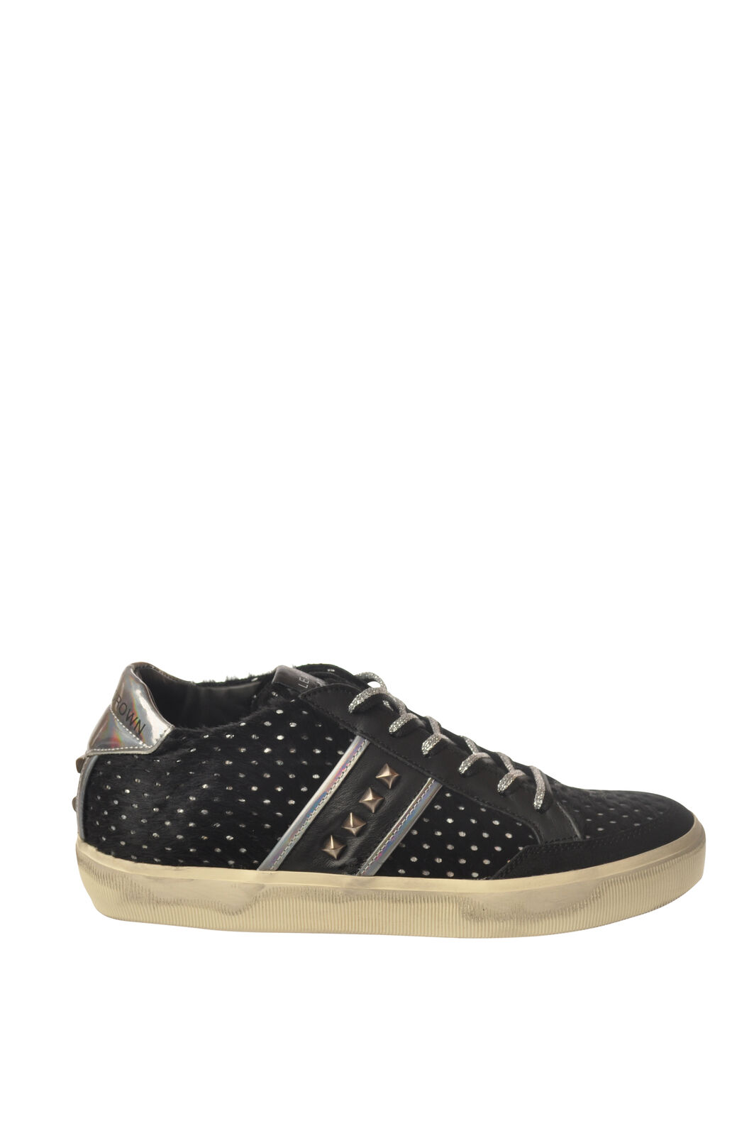 Leather Crown - shoes-Sneakers low - Woman - Black - 5447125I184817
