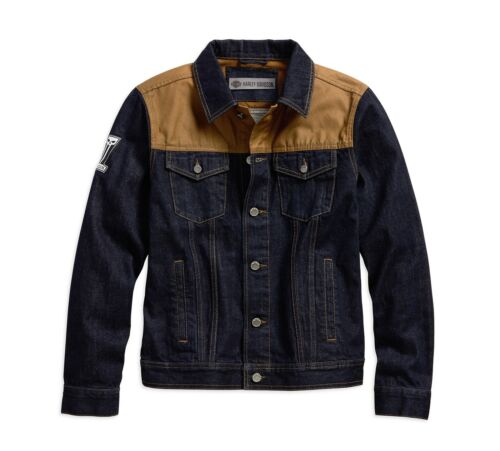 Fit gr Slim tela L Harley Jacke Denim davidson Jeans in Beige Blau qwA4TRI