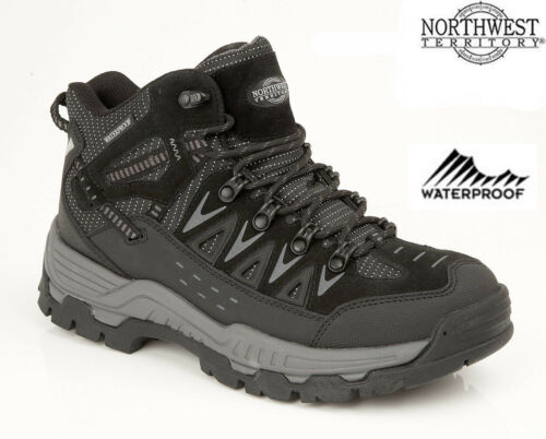Mens NORTHWEST Waterproof Lightweight Walking Hiking Ankle Boots Shoes Trainers