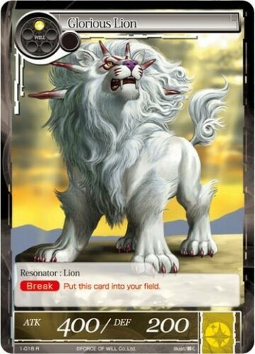 Glorious Lion FoW Force of Will 1018 R EngItaJap