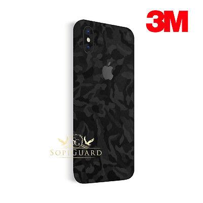 quality design 0b4a9 68b65 SopiGuard 3M Black Camo Vinyl Skin Full Body Wrap for Apple iPhone X 10 |  eBay
