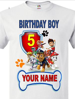 Paw Patrol Birthday Boy//GIRL Personalized  T SHIRT happy birthday