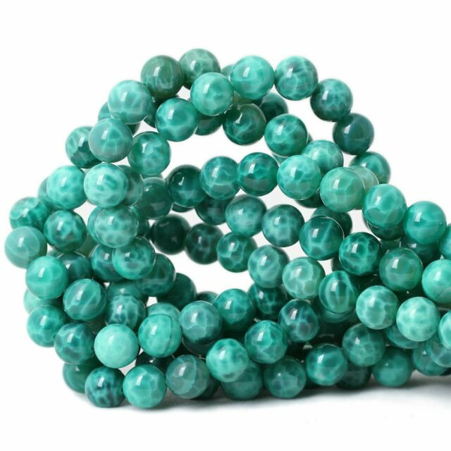 5-6MM RUSSIAN AQUA BERRY AMAZONITE GEMSTONE GRADE A GREEN ROUND LOOSE BEADS 15/""