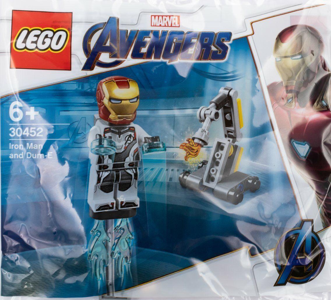 NEW Lego Marvel Avengers 30452 Iron Man and Dum-E Polybag Sealed