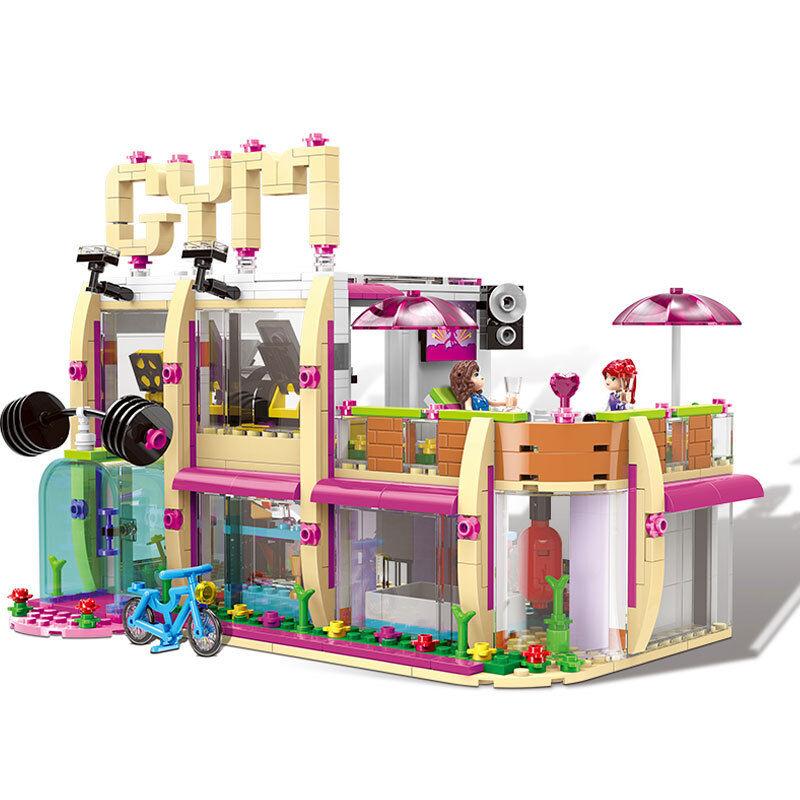 Nuevo 905Pcs City Girl Serie el gimnasio Club Set Bloques de construcción ladrillos Juguetes Modelo