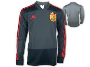 Adidas-FEF-Spanien-Training-Shirt-grau-WM-EM-Fussball-Fan-Jersey-Sporttop-S-XXL