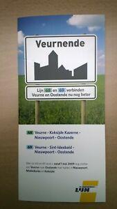 ► De Lijn - folder buslijn 68/69 - Oostende - Nieuwpoort - Veurne (2009)