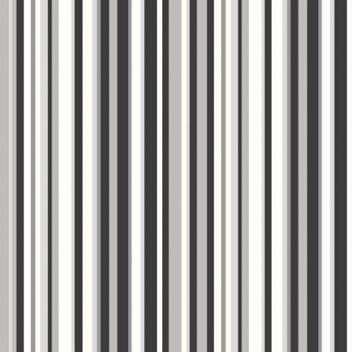 DEBONA NEW TRENDS BARCODE STRIPE BLACK GREY SILVER WALLPAPER 10002