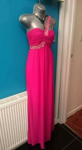 d'onore Dress 10 Jane M S Damigella Long Maxi Prom 8 Pink Norman Christmas Wedding twwXf1