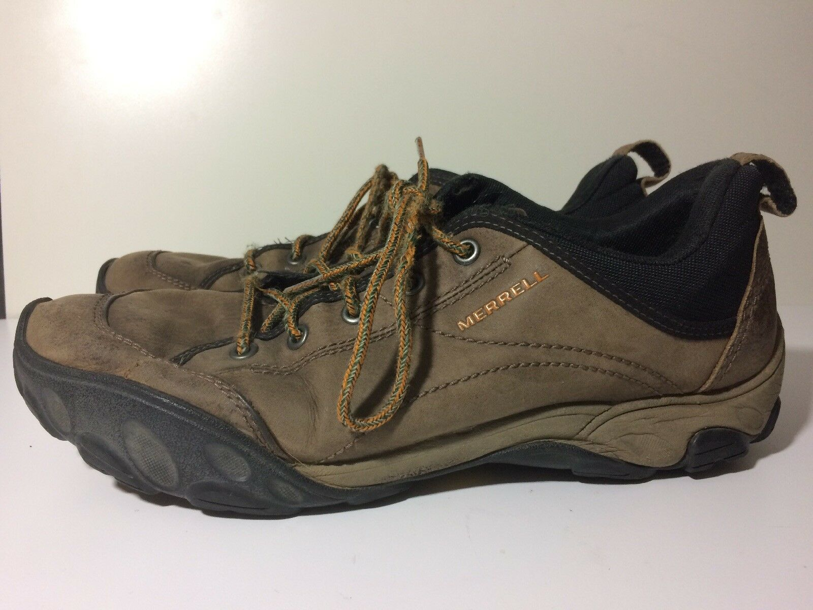 Men's Merrell Sight Brown size 13 Leather shoes Lace-Up Vibram J75137 SIGHT Hikin