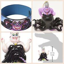 3 Items NEW Disney The Little Mermaid URSULA Ornament, Aquarium Piece, Bracelet