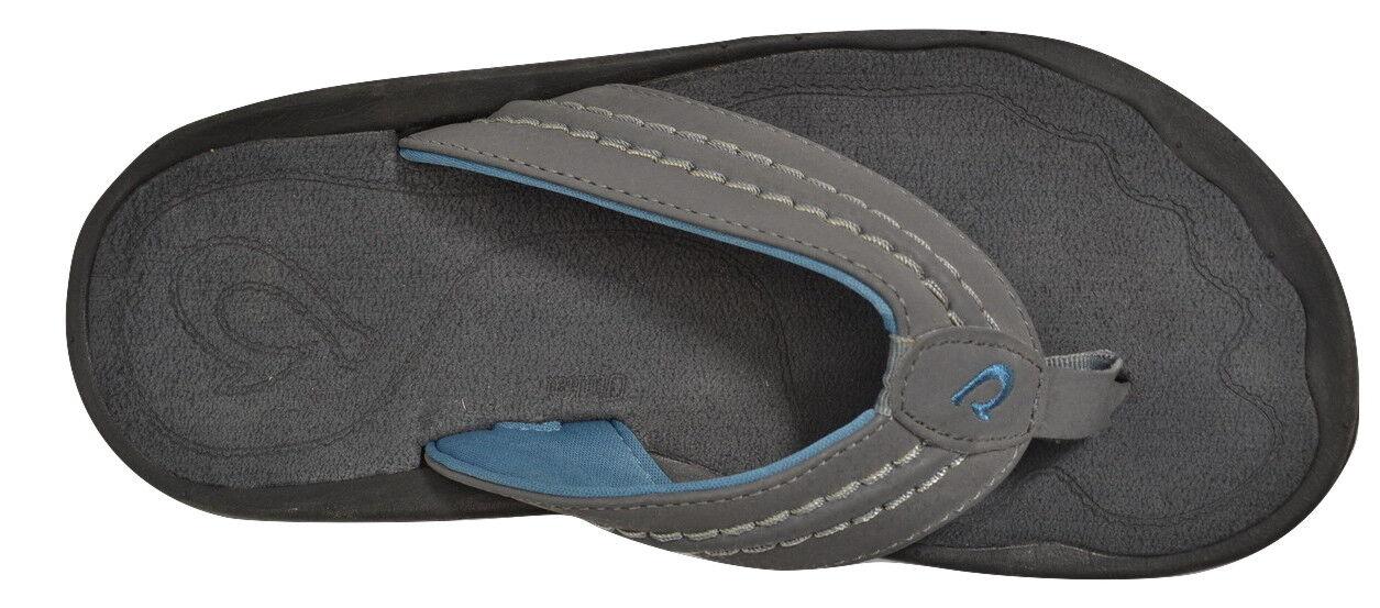 Olukai HOKUA Sombra Oscura gris carbón Makai serie Sandalias flip flop para hombre