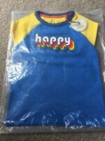Little Bird By Jools Oliver Happy Blue Yellow Tshirt Retro 18-24