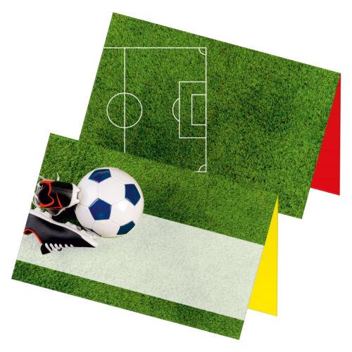 """Itenga 24x TABLE Cartes Place cartes /""""Chaussures de foot Pelouse/"""" fête d/'anniversaire"""