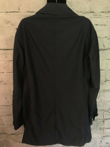 Shower Rrp Coat Length 56 Mid £600 Size Repellent Black Armani Collezioni SpqPFF