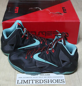 953c52ebd498 NIKE LEBRON XI 11 BLACK DIFFUSED JADE CRIMSON 616175-004 US 11 all ...