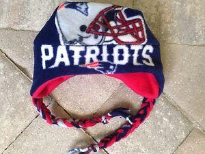08d8bd05484 New England Patriots Ear Flap braids Fleece Hat - Newborn Boys Girls ...